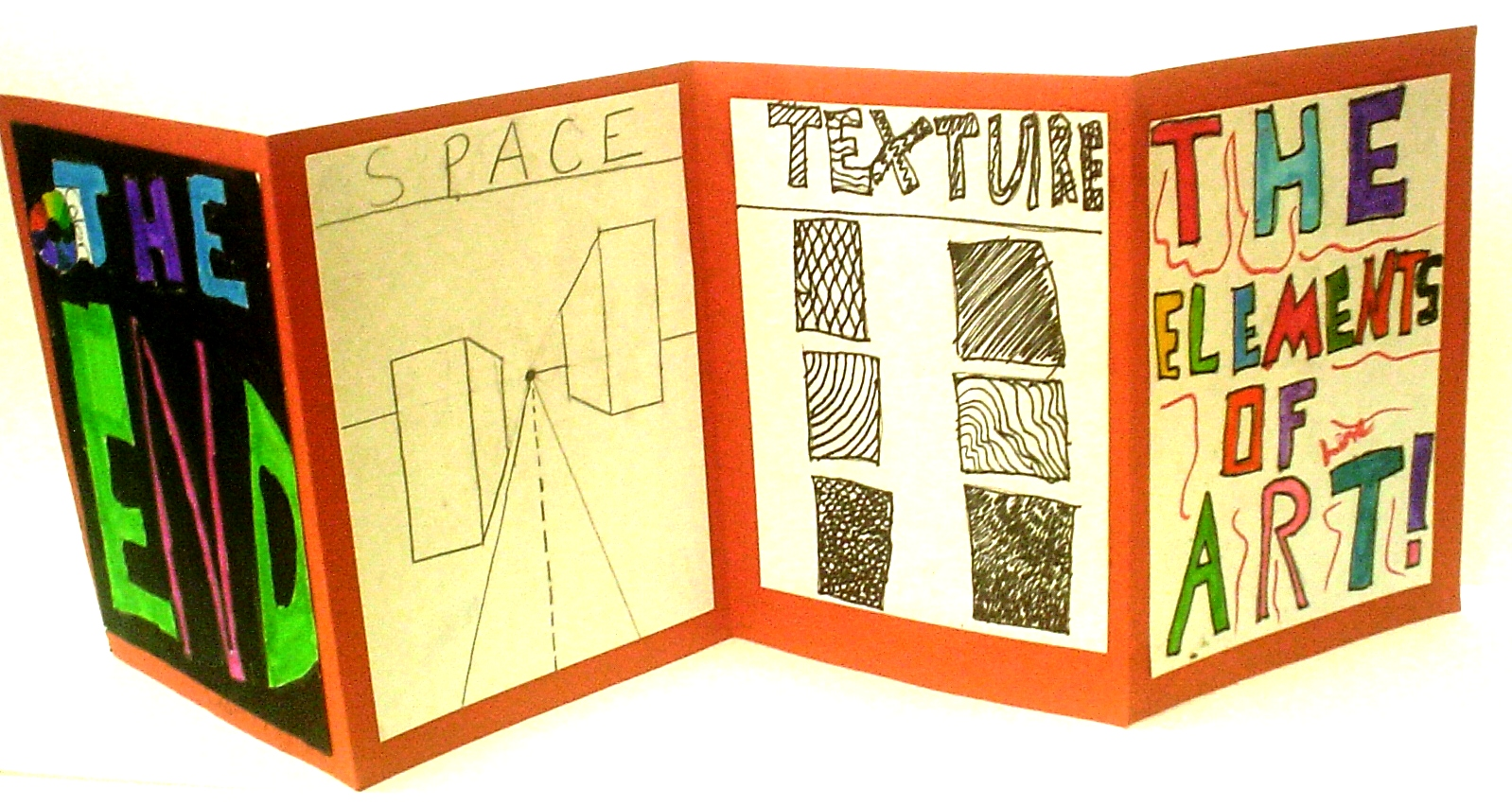 7 Elements Of Art And Their Definitions : Elements of art accordion book