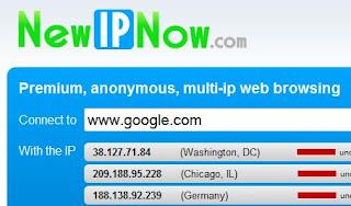 NewIPnow homepage
