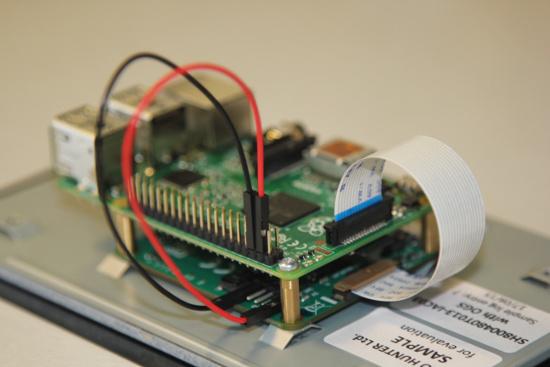 conexão eletrica display oficial raspberry pi
