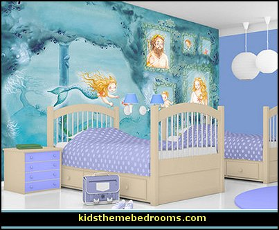 Decorating theme bedrooms maries manor underwater for Aquamarine bedroom ideas