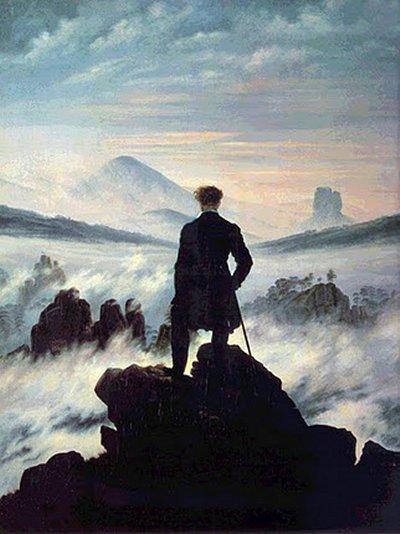 """""""Caminante ante un mar de niebla"""" · Caspar David Friedrich"""