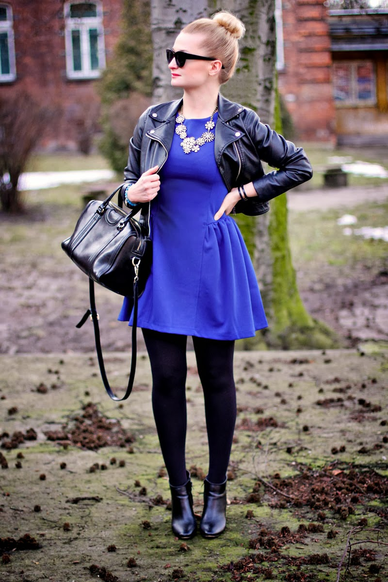 LEATHER AND BLUE