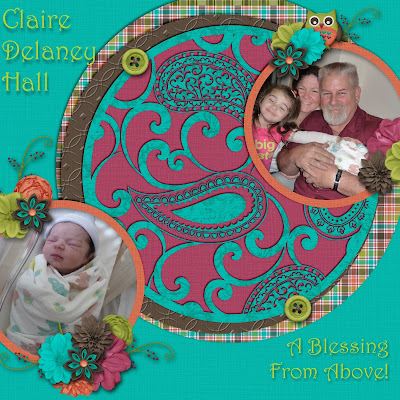Digital Page Granddaughter Blessing