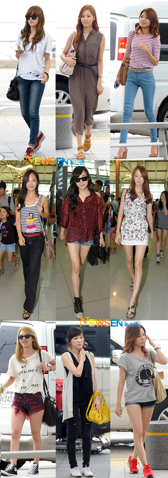 Chic And Blessed Stars 39 Airport Fashion Snsd 39 S Airport Fashion