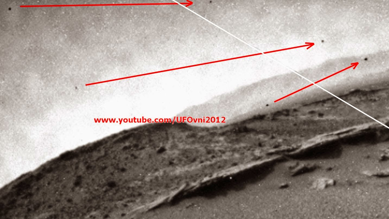 Incroyable! Trois soucoupes volantes capturées par Curiosity de la NASA sur Mars, le 12 Décembre 20