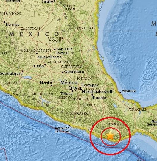 Magnitude 4.5 Earthquake of San Vicente Coatlan, Mexico 2015-04-23