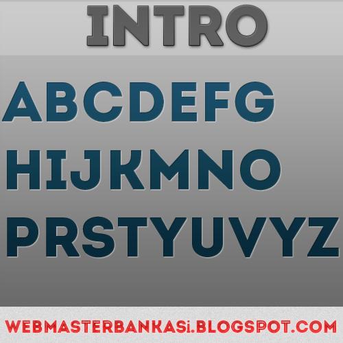 Intro yazı fontu indir