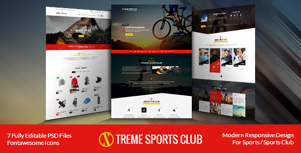 download Xtreme Sports - WordPress Club Theme