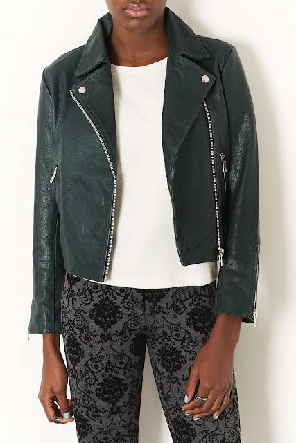 green biker jacket