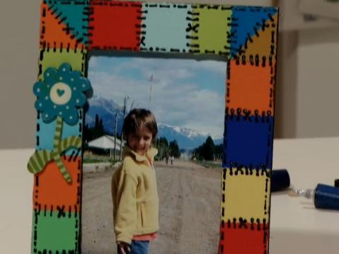 Porta-retratos de pintura patchwork