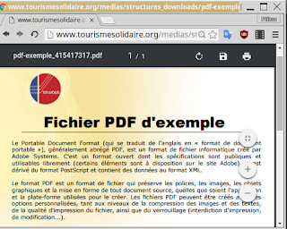 Un fichier PDF dans le nouveau lecteur PDF de Google Chrome 47
