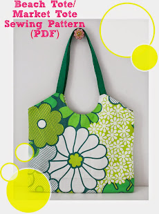 Beach tote sewing pattern (PDF)
