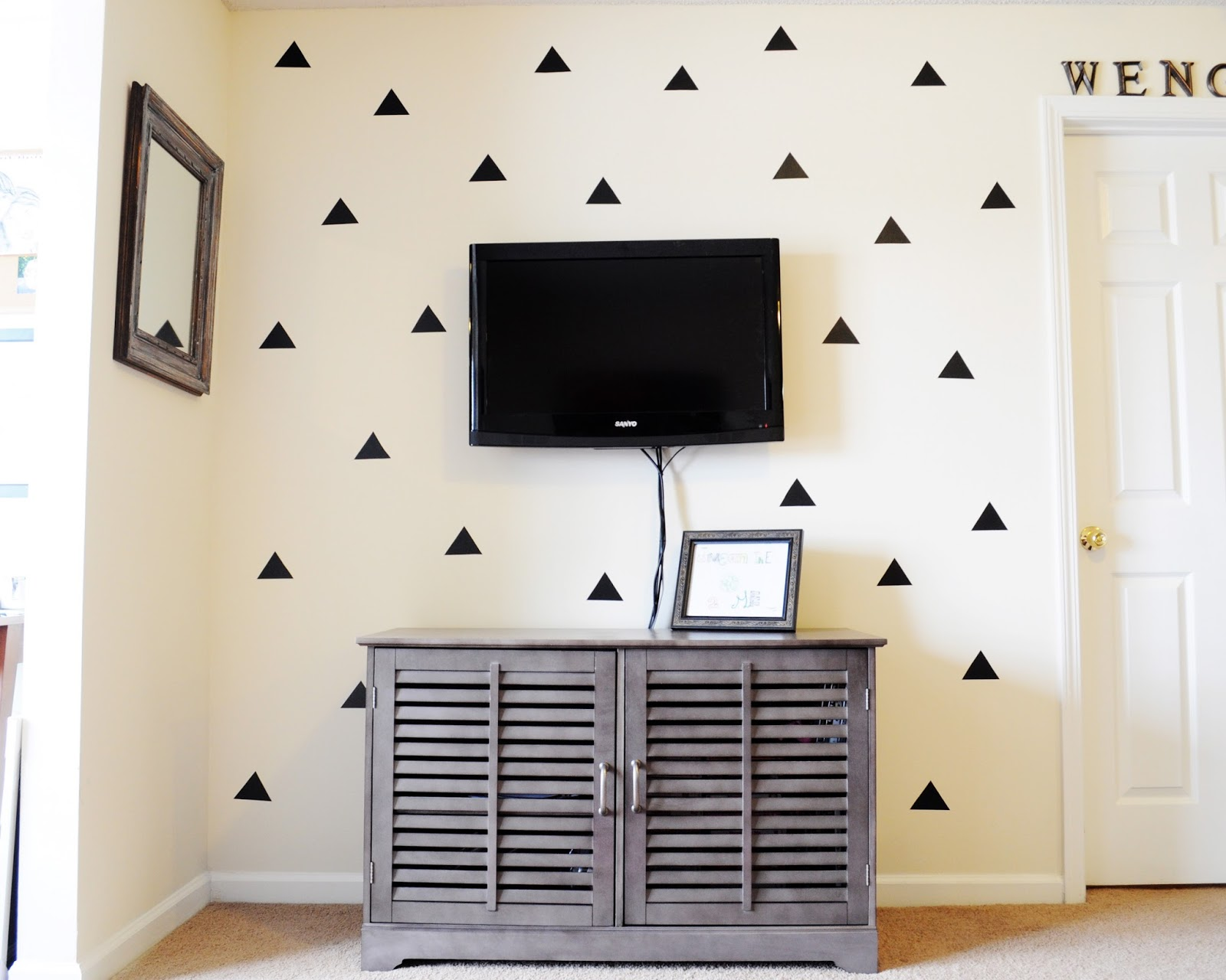 Little Sloth DIY Triangle Statement Wall - Vinyl decals at hobby lobby