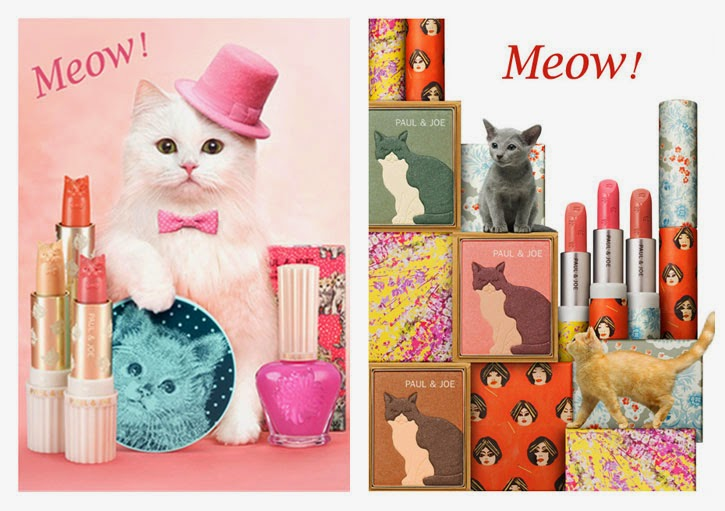 paul and joe lipsticks makeup cosmetics beauty paul&joe פול אנד ג'ו אסוס cats kittens blush lipstick