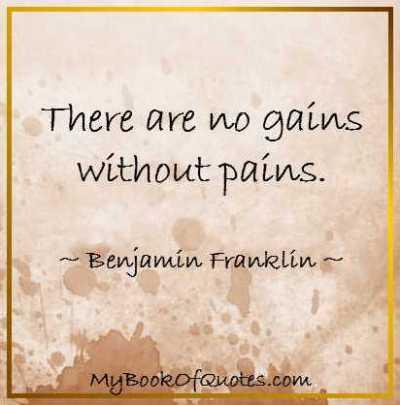 蒔かぬ種は生えぬ No gain without pain.