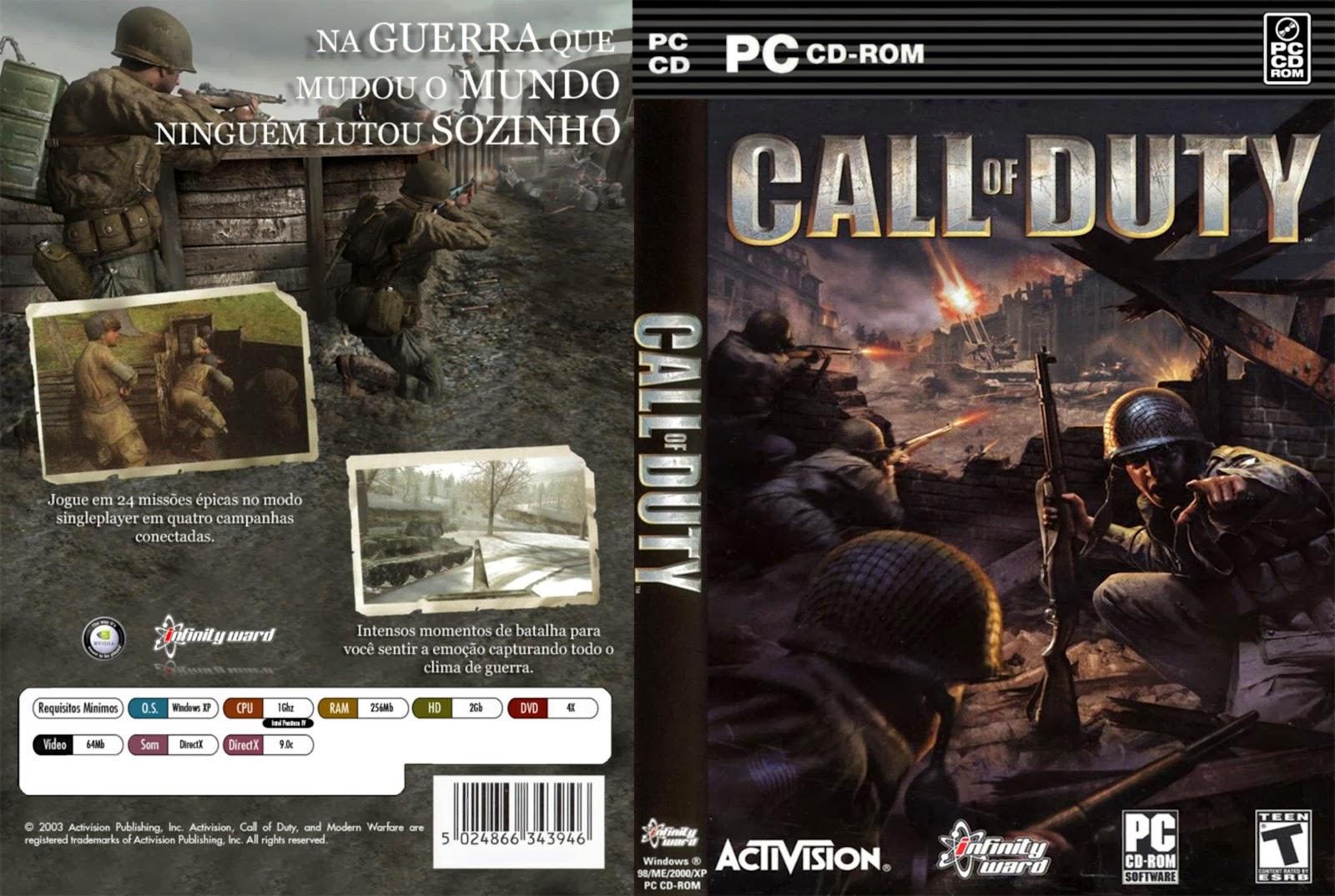 Jogo Call Of Duty 1 PC DVD Capa