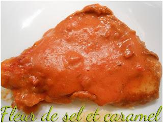 Escalopes de dinde sauce chorizo et poivron rouge