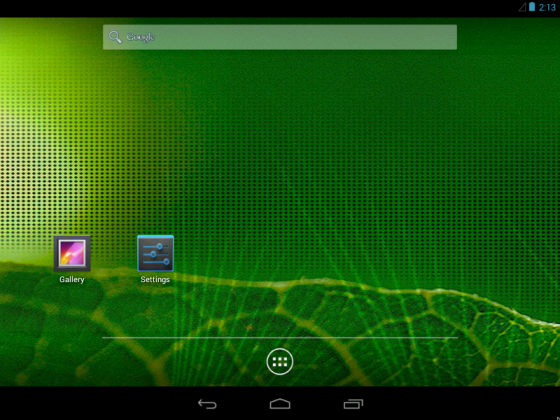 android home screen on computer
