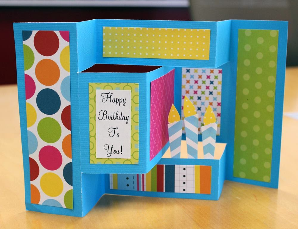 a dash of scraps how to make a birthday popup card, Birthday card
