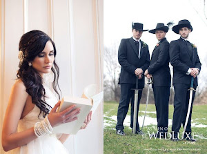 "Check out our Style Shoot ""All For One"" Three Musketeers featured on WEDLUXE!"