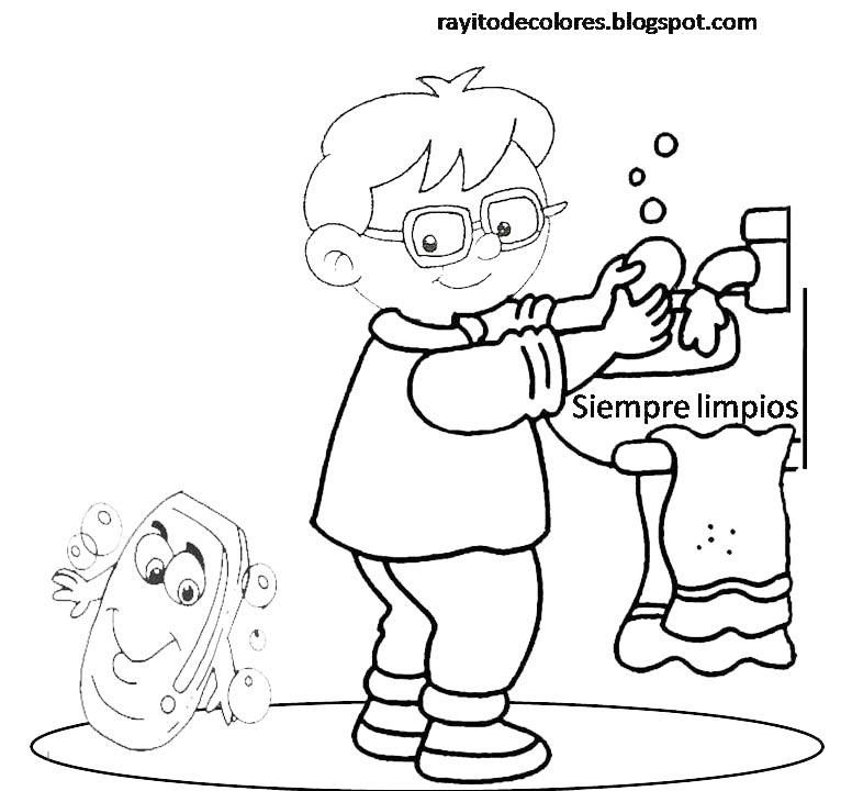 Rayito de colores carteles de higiene - Trucos para ir al bano todos los dias ...