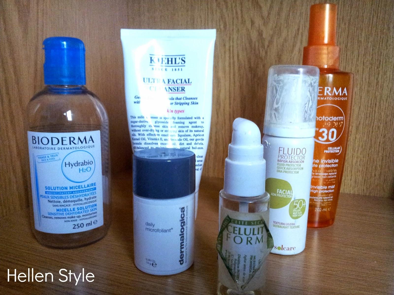 Productos de cosmética acabados