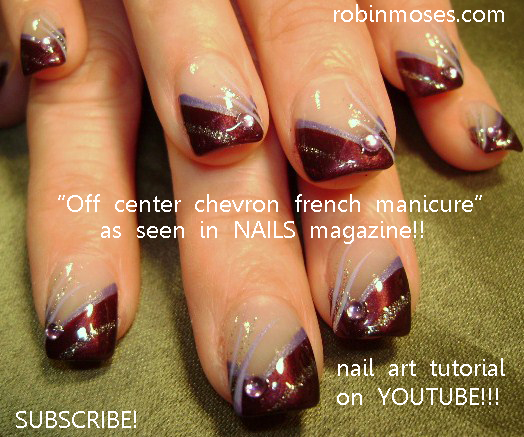 Robin moses nail art nails magazine august 2011 20 french off center chevron french prinsesfo Gallery