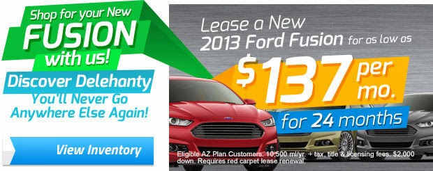 Model Year End Ford Fusion Sale Event at Delehanty Ford
