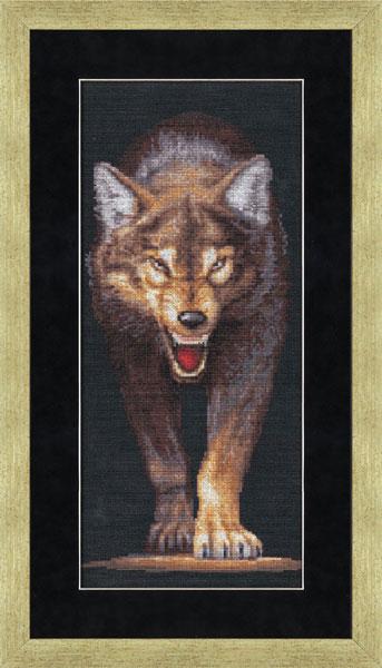 Волки вышивка от золотого руна