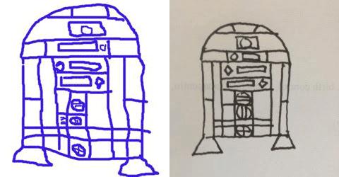 comment dessiner r2d2