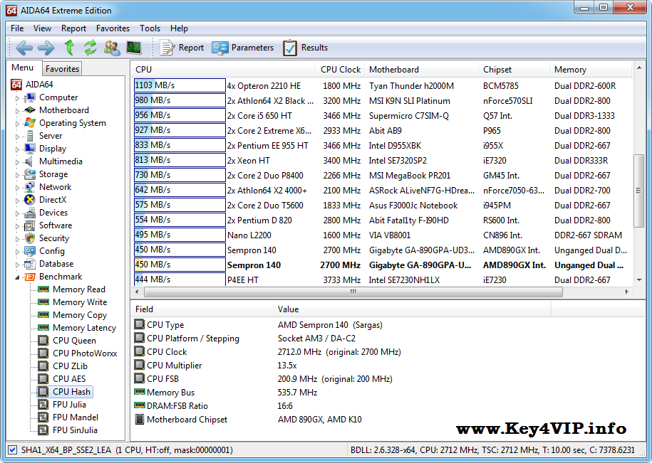 AIDA64 Extreme Edition v4.50.3000 Final Full,Xem chi tiết và test phần cứng