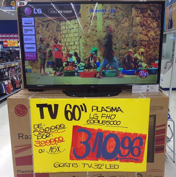 Duas tv 39 s um s pre o for Tv plasma carrefour