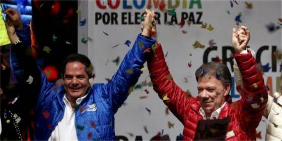 Con el 50.92% contra el 45.2 fue reelegido Juan Manuel Santos como Presidente de Colombia