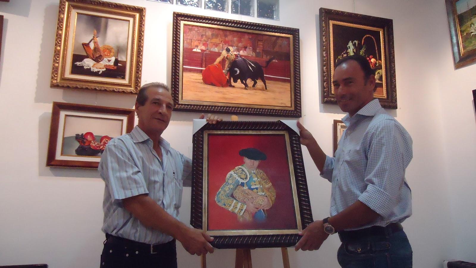 Francisco Muñoz retrata con su pincel a Pepín Liria