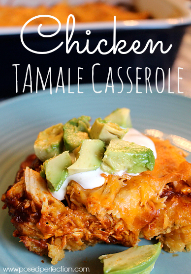 Tired of the same chicken dishes? You have to try this Chicken Tamale Casserole! This crowd pleaser is full of flavor with just the right amount of spice!