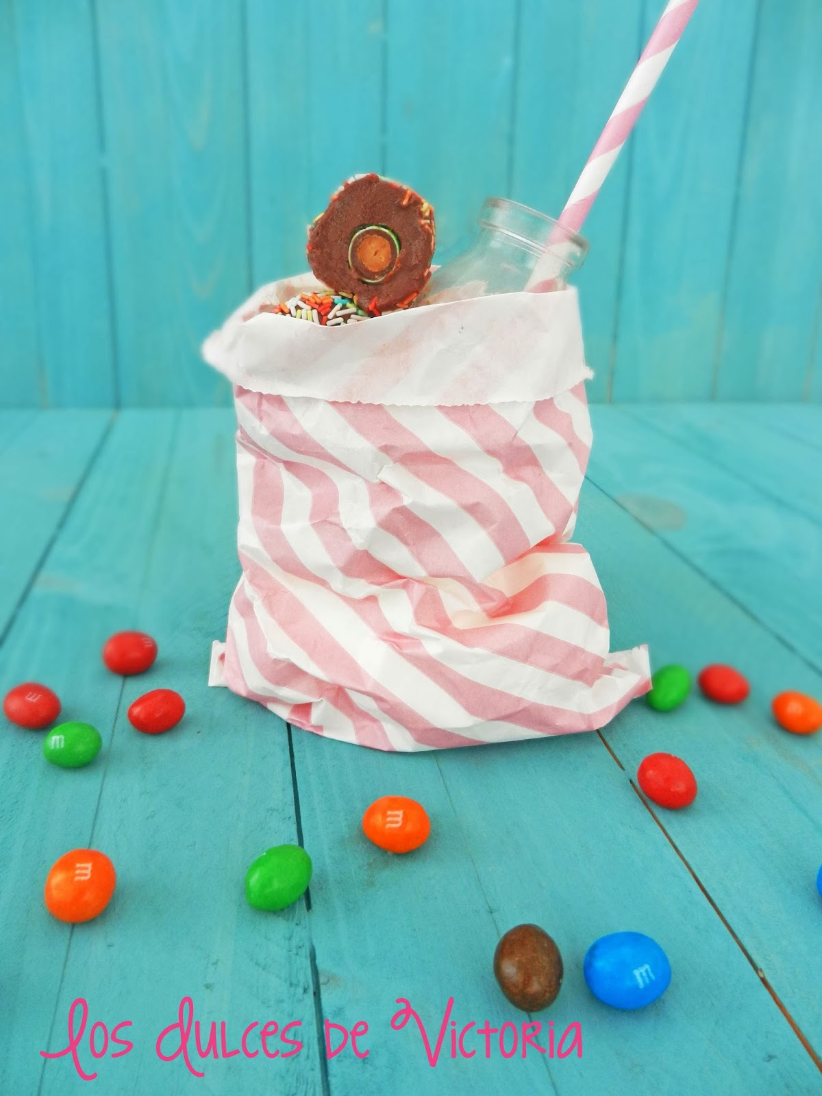 trufas de chocolate con M&M's