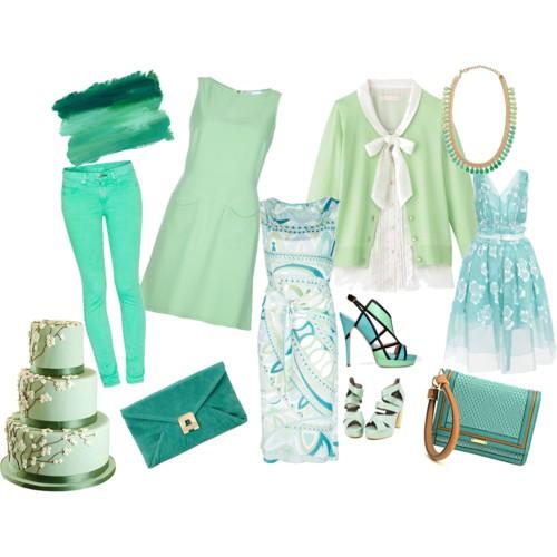 verde menta ropa y complementos