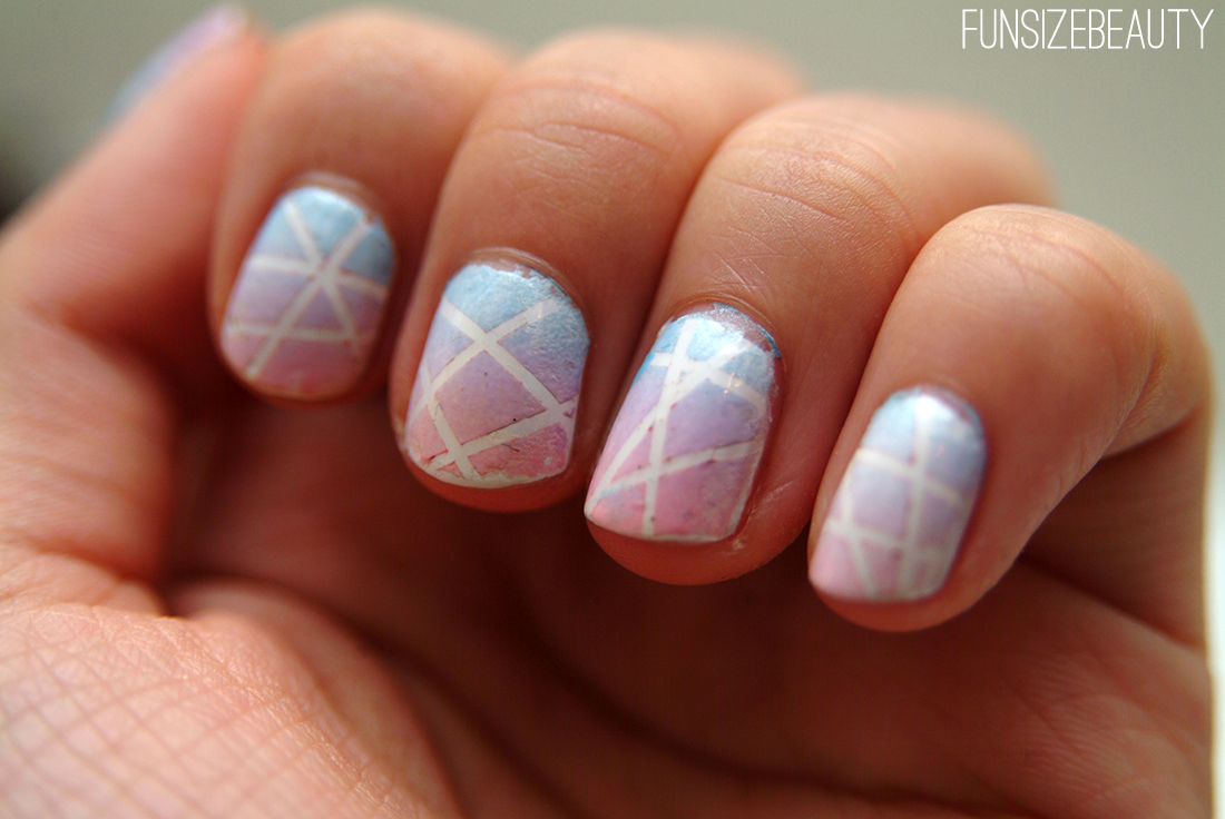 Makeup n more by anna guest post nail of the day ombre and and nail art so i thought id try my hand at something interesting this nail look is a combination of a rainbow ombre and striping tape products used prinsesfo Choice Image