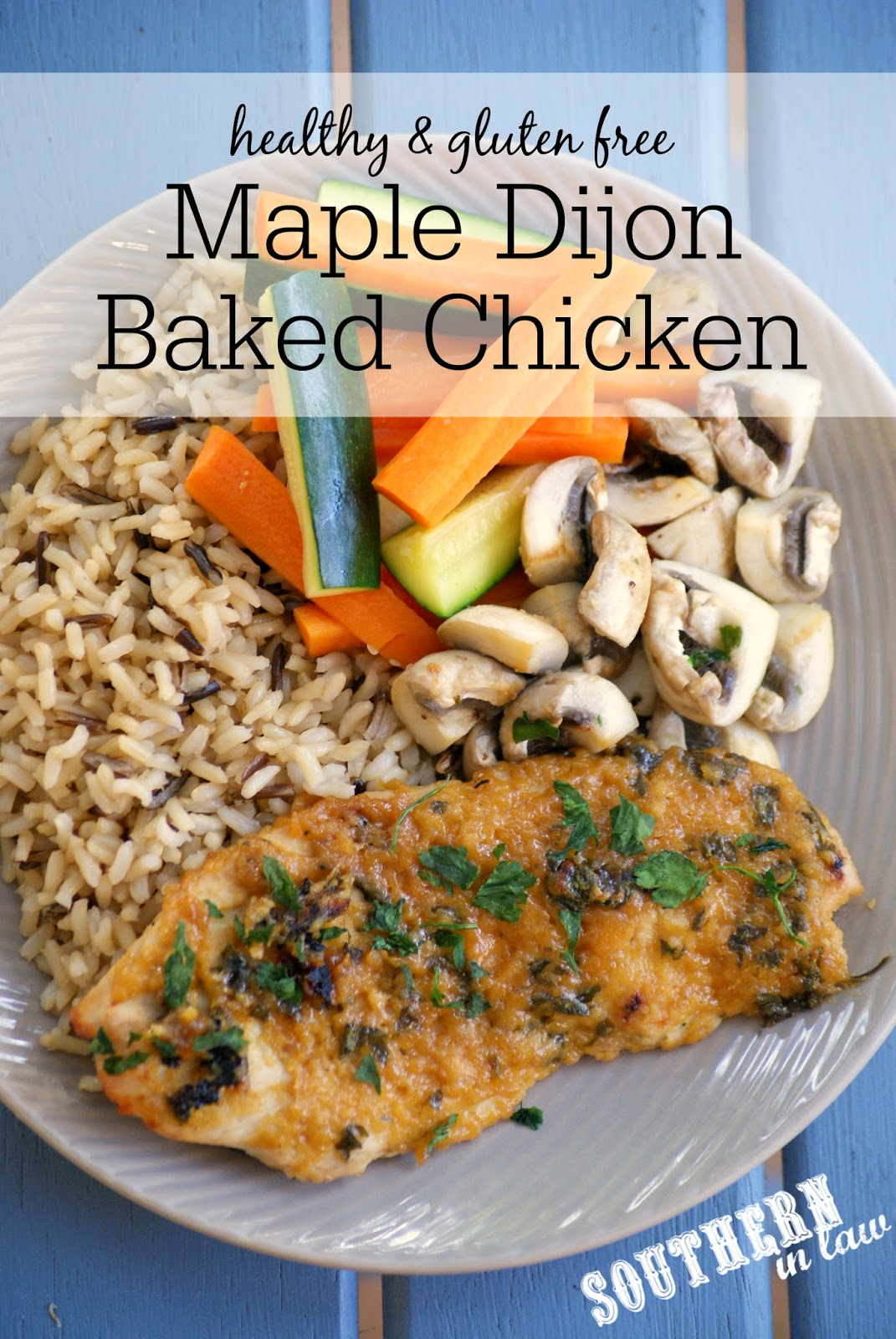 Paleo Maple Dijon Baked Chicken Recipe | low fat, gluten free, paleo, grain free, low calorie