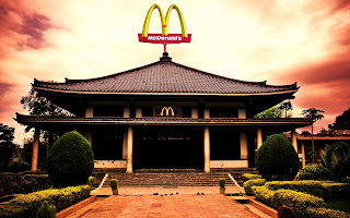 McDonalds Japan Traditional Store HD Wallpaper