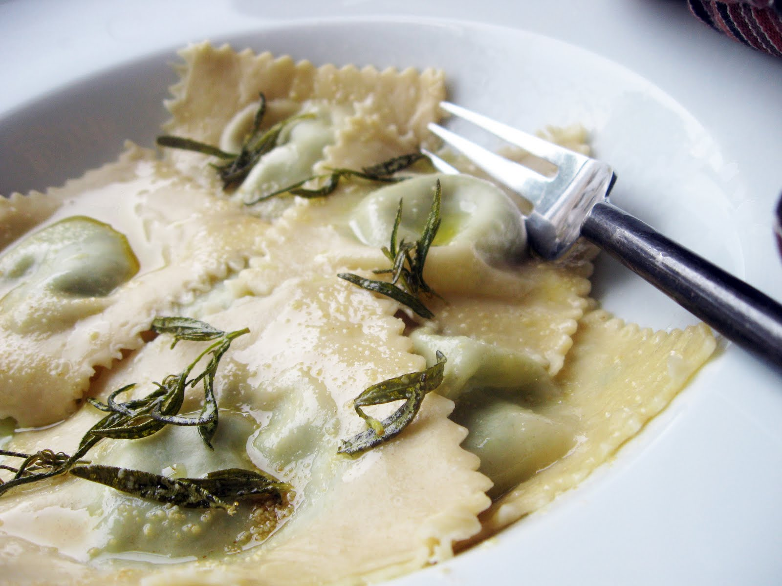 Burp! Recipes: Nettle & Garlic Ravioli with Rosemary Browned Butter