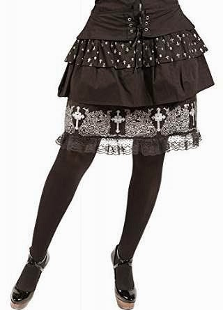80s Style Tiered Gothic Rock Skirt