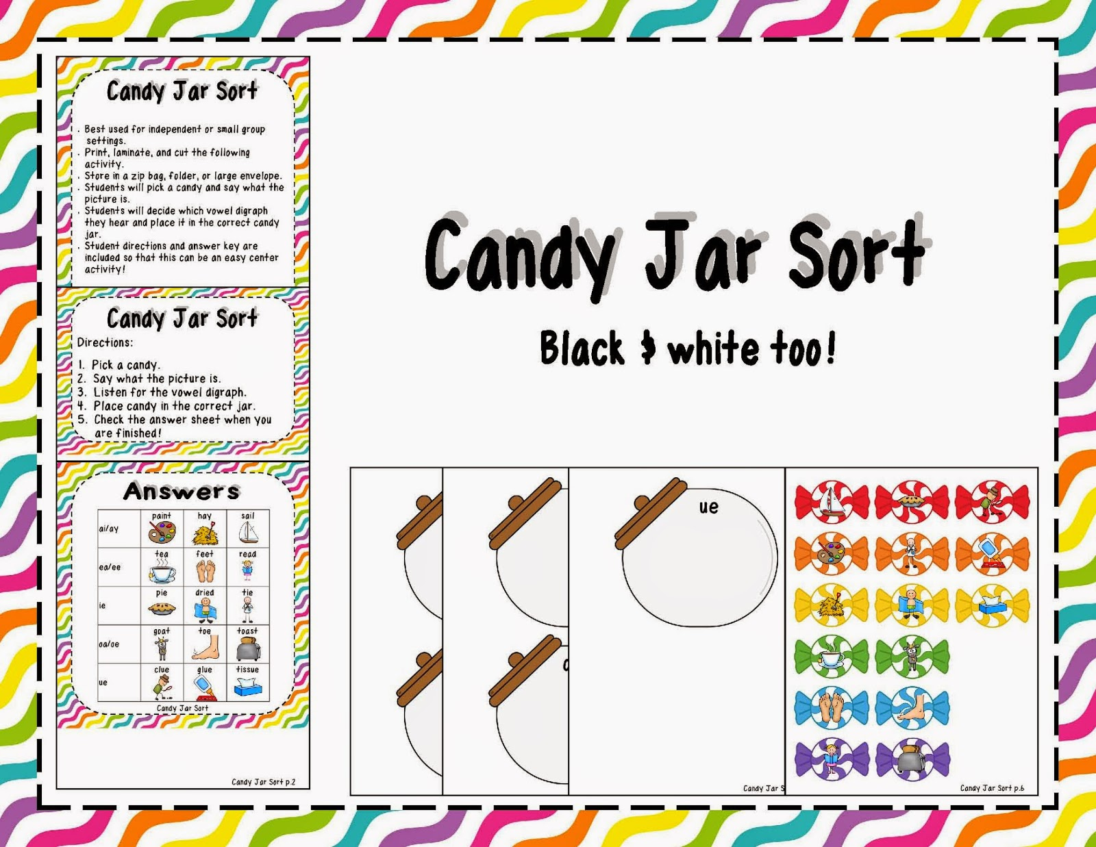 http://www.teacherspayteachers.com/Product/Vowel-Digraphs-Sweet-Treats-1314365