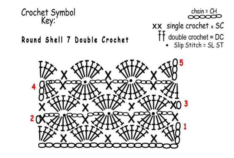... to crochet the harlequin stitch (video & diagram) - DIY Craft Projects