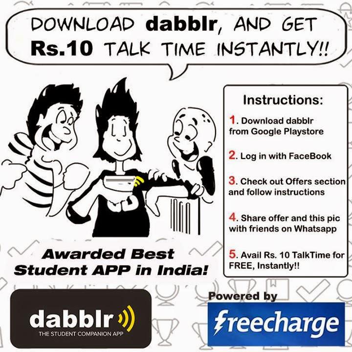 dabblr free 10 rs talkime