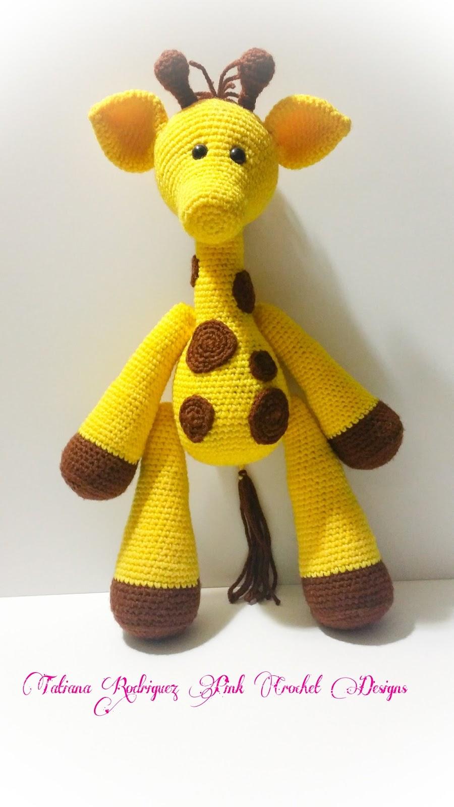 Tatiana Rodriguez\'s Pink Crochet Designs: Joey The Giraffe Now ...