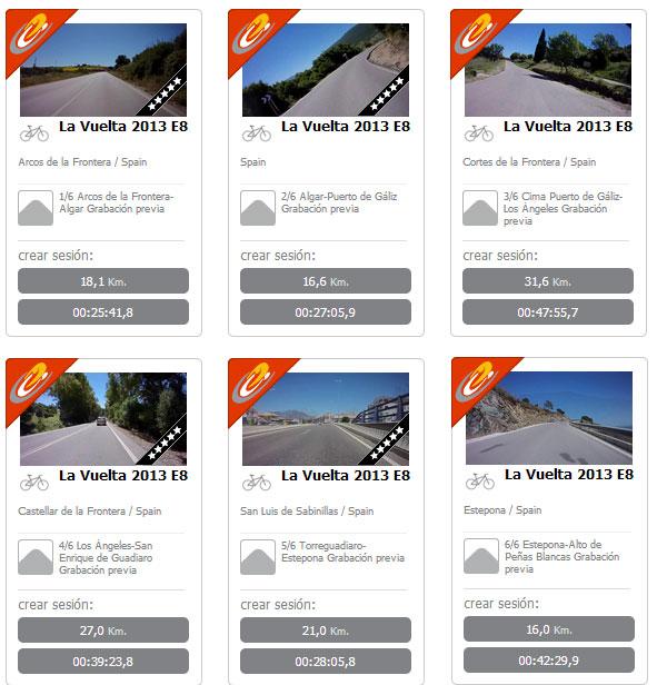 BKOOL Vídeo real La Vuelta 2013. Etapa 8 Peñas Blancas