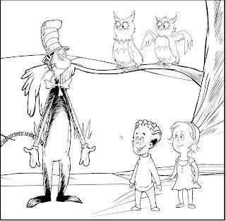 COLOREAR - COLORING PAGES: El Gato Ensombrerado para dibujar pintar