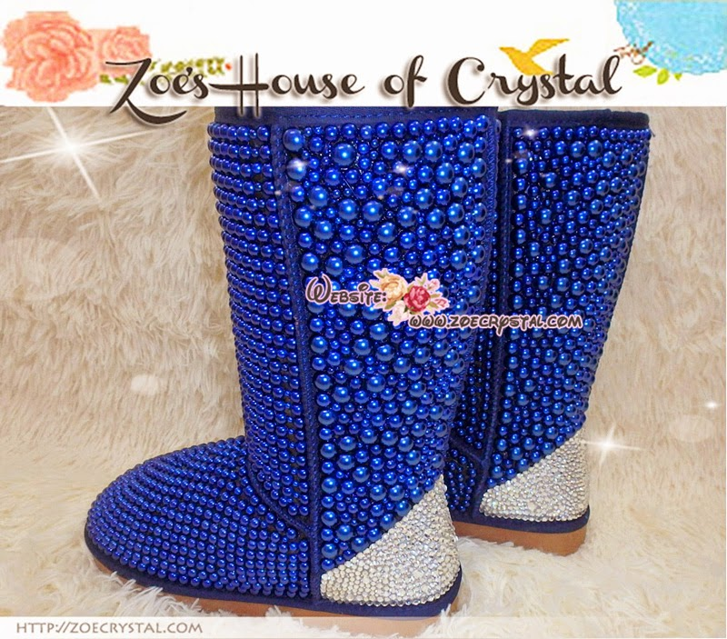 Promotion Winter Bling And Sparkly Tall Blue Pearls