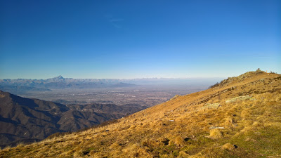 View toward Monte Viso from Cima Pigna.